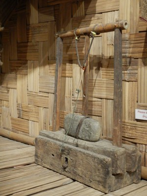 At the Ethnology Museum they had a homemade rat trap; it illustrates how practical and resourceful locals are when they don't have access or funds for the modern day equivalents