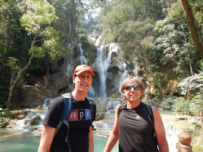 Thirty kilometers southwest of Luang Prabang is the highlight of the region - Tat Kuang Si Waterfalls; it reminded me of a small version of Plitvice National Park in Croatia