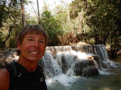 The many-tiered waterfalls of Tat Kuong Si tumble over limestone formations into a series of cool, swimmable turquoise pools; the winding road to the falls was full of potholes and jarring