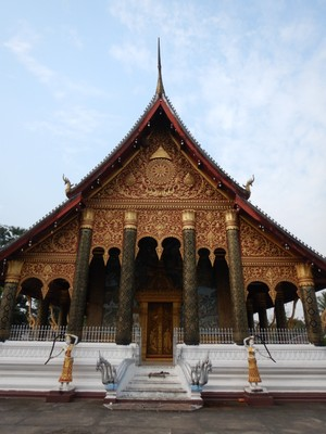 Wat Mahathat; Luong Prabang gained UNESCO status for unique and remarkably well preserved architectural, religious and cultural heritage, including the French colonial influences during the 19th and 20th centuries