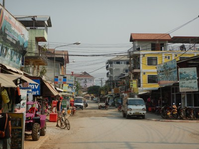 In recent years, Vang Vieng has become a stop on the Southeast Asia backpacker circuit and the main street has many guest houses, bars, massage studios, restaurants and tour agencies