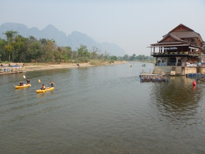 In the third quarter of 2012, the Lao government carried out a crackdown in Vang Vieng, pulling down all the riverside bars which had created a rowdy party atmosphere; there were dozens of tourist deaths each year from drunken activities on the river