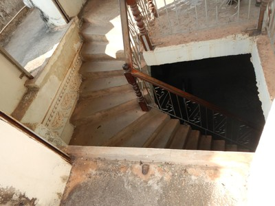This is the staircase at the Patuxai monument where someone could very easily be killed falling into this stairwell; there is no OSHA, ADA, FDA, EPA, etc. here
