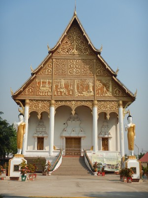 Wat That Luang Neua; the Pha That Luang complex was the most impressive temple complex in Vientiane