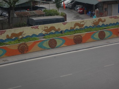 I loved this road that has mosaics that go on for 4 miles; developed on the occasion of the Millennial Anniversary of Hanoi, it is the world's largest ceramic mosaic and was awarded a Guinness World Records certificate