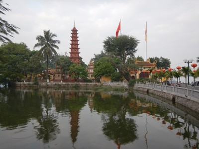 Tran Quoc is the oldest pagoda in Hanoi; it's located on a small island in West Lake; since 2014, Hanoi has consistently been voted in the world's top ten destinations by TripAdvisor