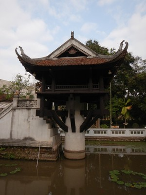 The One Pillar Pagoda was built in 1049 and is dedicated to the goddess of mercy and protector of children, Quan Am; the pagoda is included in the ticket for the Ho Chi Minh Mausoleum complex