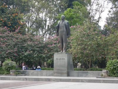 The 1980 statue of Lenin was given to Vietnam by the USSR; Ho Chi Minh met Lenin in 1922; I wonder what the Vietnamese people think of Lenin today