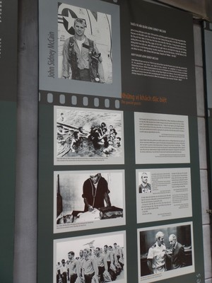 John McCain was the most famous American prisoner in the Hanoi Hilton; there was a nice presentation on some of the other prisoners and their life after imprisonment