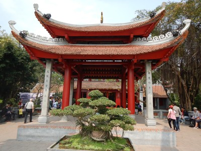 Tran Quoc Pagoda is the most visited pagoda in Hanoi; it was constructed in the 6th century and lies on a small island in Truc Bach Lake