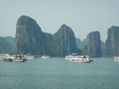 A growing number of tourists are skipping crowded Halong Bay and going to equally alluring Lan Ha Bay; I would have opted for either a longer trip or a trip to Lan Ha to avoid the masses here