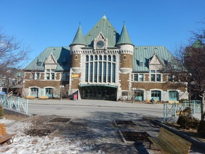 The Quebec City train station; service is pretty limited with most trains going to Montreal, Ottawa and Toronto