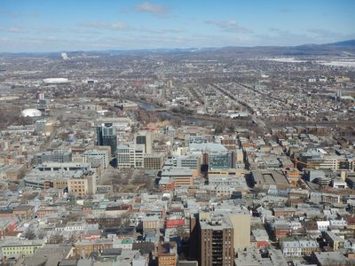 From 31 stories up, you get an fantastic perspective of the city at the Observatoire de la Capitale