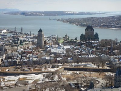 The ramparts surrounding Old Quebec are the only fortified city walls remaining in the Americas north of Mexico; there are almost 3 miles of walls