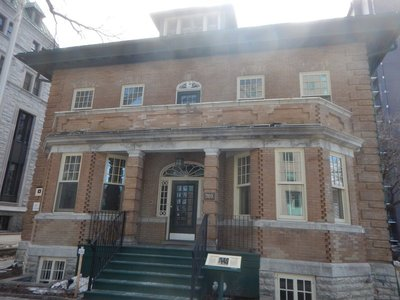 The Louis St. Laurent House was built in 1913 on the Grande Allee; St. Laurent was premier of Canada and lived in the house until his death in 1973