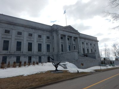 The original building of the National Museum of Fine Arts of Quebec was built in 1933; a modern wing was added in 2016