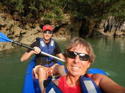 Kayaking into Ba Trai Dao lagoon was the highlight of my visit to Halong Bay; there is no camping or other accommodation on land available in the bay