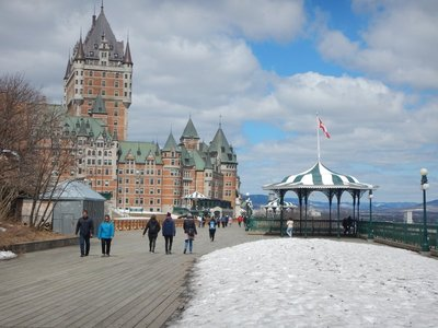 The Terrasse Dufferin was named after a governor of Canada from 1872 to 1878 who had this boardwalk constructed
