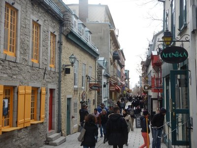 Champlain is credited with founding Quebec City in 1608 but Jacques Cartier landed here in 1535 but didn't establish a long-term presence