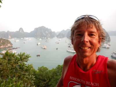 This view at the top of Ti Top Island was the best in Halong Bay; the bay was probably fantastic 20 years ago before mass tourism arrived