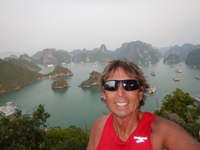 The view of Halong Bay from the peak of Ti Top Island; Halong Bay is a UNESCO World Heritage Site and the number 1 tourist destination in northern Vietnam