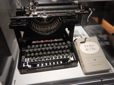 1938 typewriter owned by poet Felix Leclerc, a famous French-Canadian singer-songwriter credited with reviving the Quebec folk song tradition