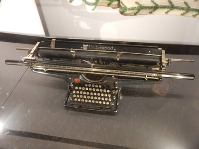 1895 Underwood typewriter made in Canada; admission was $16 CAD with free wifi and guided tours