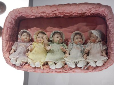 The Dionne quintuplets were the first quintuplets known to have survived their infancy; they were huge stars in Canada