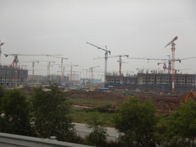 It looked like an entire new city was being built midway between Hanoi and Halong Bay; there were brand new freeways and lots of growth in this area only 3 hours from the Chinese border