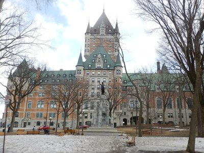 Chateau Frontenac opened in 1893 as part of a series of hotels built by the Canadian Pacific Railway to encourage tourism; it's now a Fairmont with 600 rooms