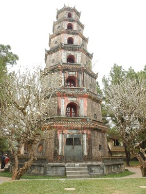 Thien Mu Pagoda is an icon of Vietnam and a potent symbol of Hue as the former capital; the 21 meter high, octagonal tower was built in 1844