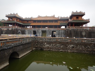 The Meridian Gate is the main gate for the Hue Imperial Citadel; I visited twice since the complex is so huge and our tour visit just saw a small portion of the complex