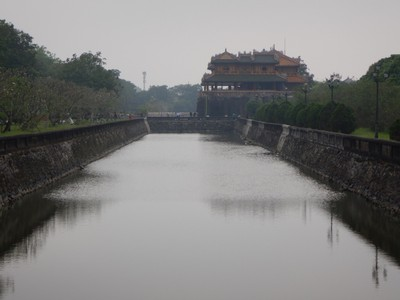 A moat surrounds the Imperial Citadel; the Forbidden City is a citadel within the larger citadel