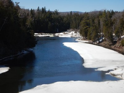 There are 48 dams along the 63 mile long Montmorency River; most are for flood control but several are for drinking water