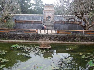 The Tomb of Tu Duc is the most popular and impressive of the royal mausoleums in Hue; his tomb is 5 kms south of the city while the other tombs are scattered slightly further out of town