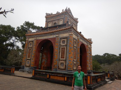Emperor Tu Duc enjoyed the longest reign of any monarch of the Nguyen dynasty, ruling from 1848-83; despite the grandeur of the site and the amount of time Tu Duc spent here, he was buried in a different, secret location somewhere in Hue