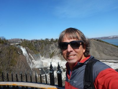 The Battle of Montmorency was fought on the plateau behind me on July 31, 1759; the French defeated the British in this battle but ended up losing the French and Indian War at the Plains of Abraham