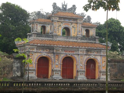 The Chuong Duc Gate was built in 1804; it was one of five gates that allowed entrance to the Imperial City from the Citadel