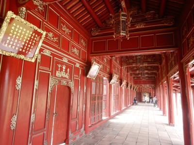 The Imperial City of Hue was constructed from 1805-1832; this relatively short period assured that the building styles were consistent and harmonious