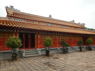 The Temple of Original Ancestor was badly damaged during the 1968 Tet Offensive; in 2014, it underwent a 27 month period of restoration funded with $700,000 by the United States Department of State