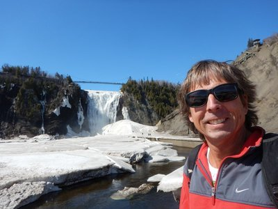Montmorency Falls is 83 meters high (30 meters higher than Niagara!) and only 13 kms from Quebec City