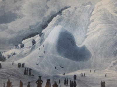 The falls became quite popular with Quebec society in the 1800s as shown in this painting by James Patterson Cockburn