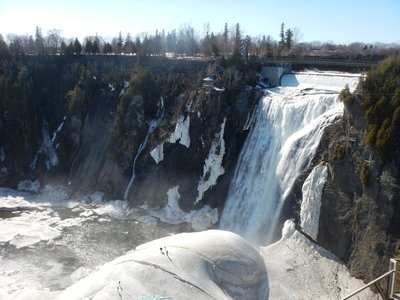 Samuel de Champlain discovered the falls in 1608 and named them for his immediate commander (brown noser!) Charles de Montmorency