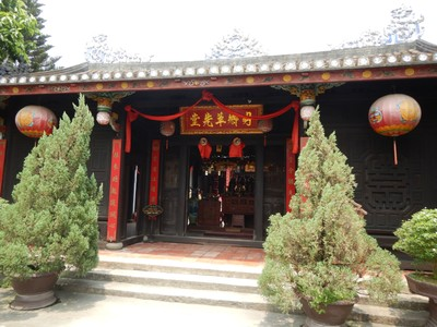 The Minh Huong Ancestor Worship House, built in the late 19th century; ancestors are believed to continuously protect and assist their children so they are worshiped and remembered