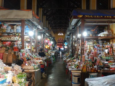 This is the central market where locals come to buy everything; the shops in town were clean and organized but the items for sale were typically the same ones I'd seen throughout Vietnam