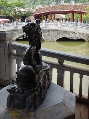 I was born in the year of the dragon; there is a championship golf course and luxury hotel at the base of the complex near Danang