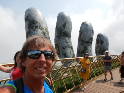 I've wanted to visit the Golden Hands Bridge ever since Jeff Fisher sent me a photo of it (knowing that I was planning to visit Vietnam)