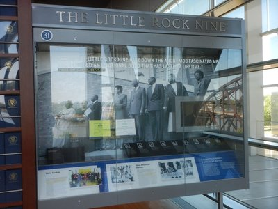 The Little Rock Nine were honored by Clinton at the White House; made famous for simply trying to attend Central High School after the Supreme Court approved school segregation