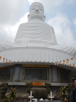 This 27 meter high Buddha looks out over the property; in Danang I saw the University of Tourism which should teach students better English skills to complement their graciousness and desire to be helpful