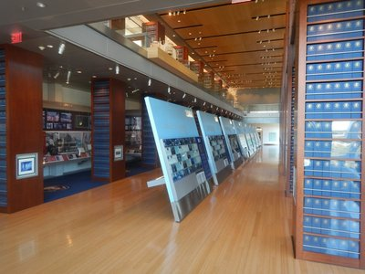 The Clinton Library is part of the National Archives which manages the libraries of every president since Herbert Hoover; the Obama Foundation will manage his library rather than the National Archives